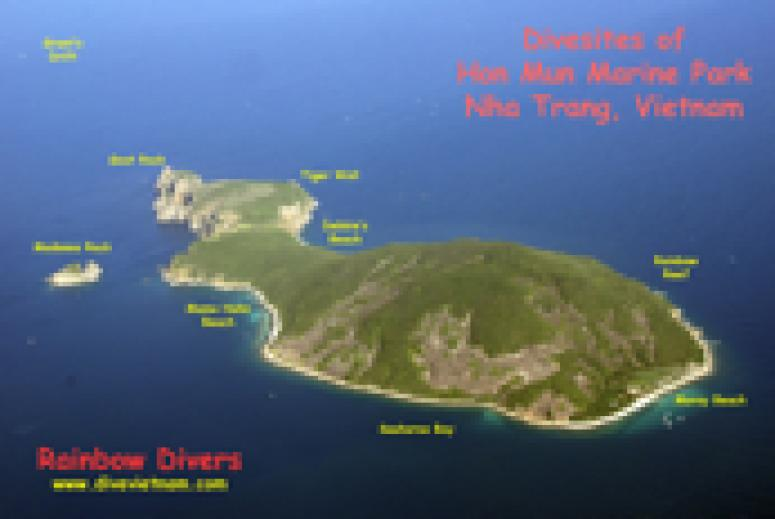 Dive sites in Hon Mun