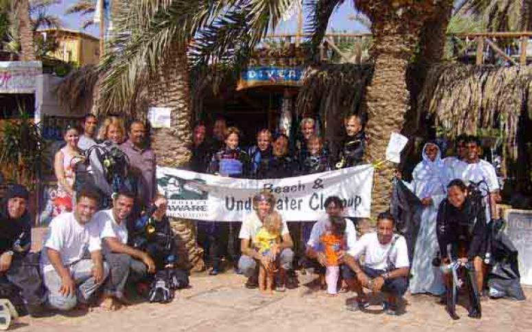 Desert Divers, PADI Clean Up day
