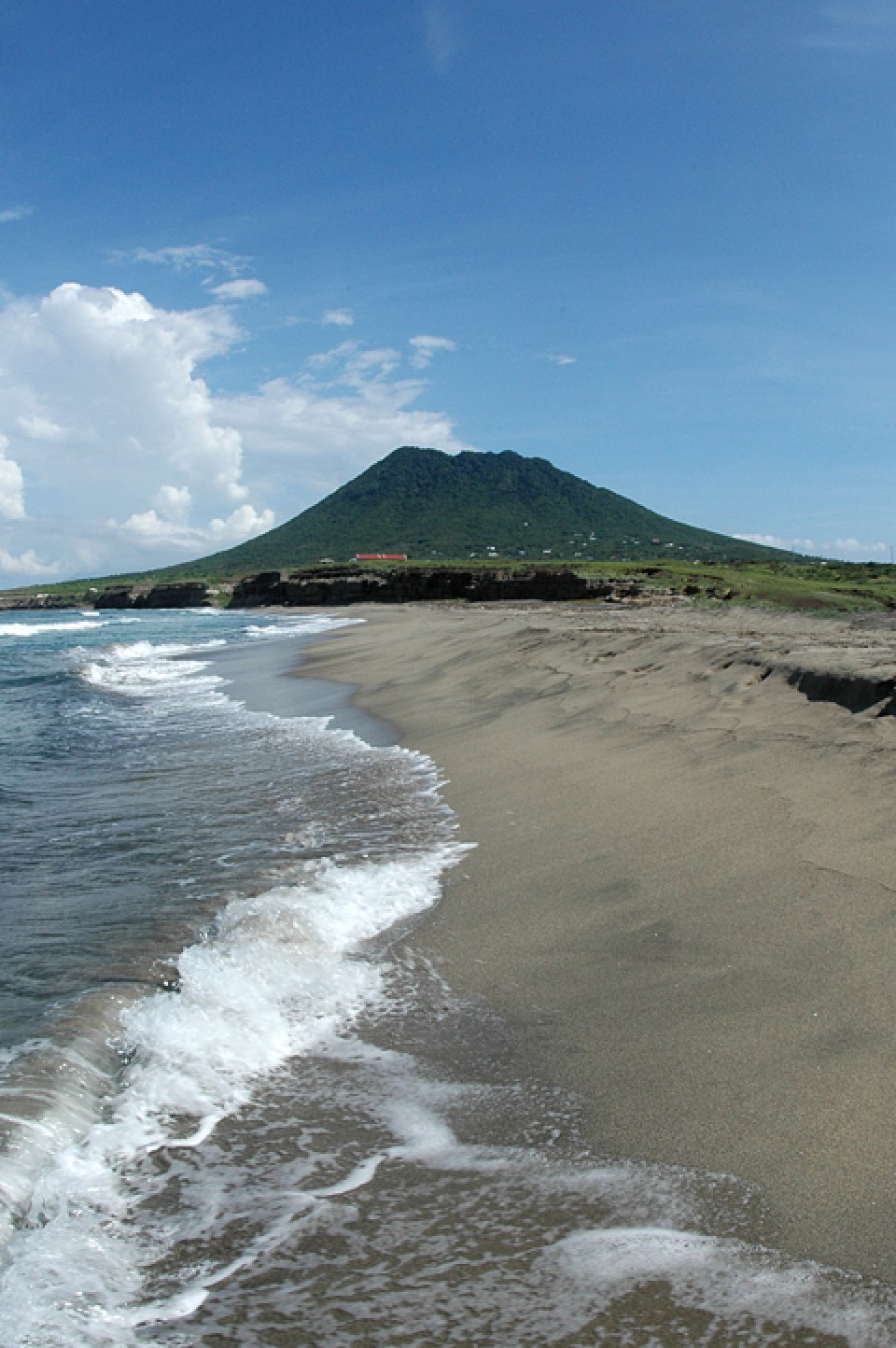 Zeelandia Beach and the Quill volcanic cone
