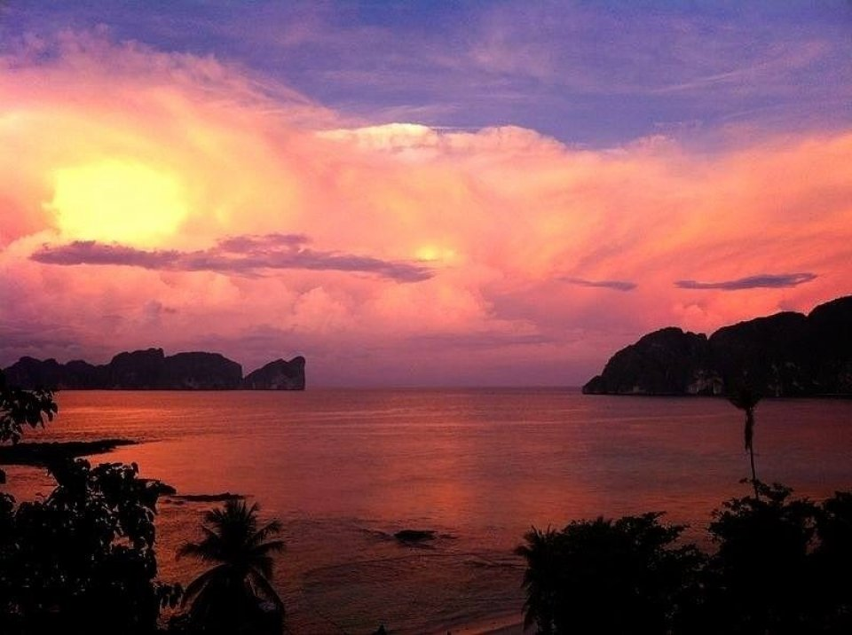 Sunset over Koh Phi Phi Ley