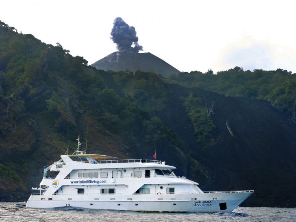 Infiniti at Barren Island (active volcano)