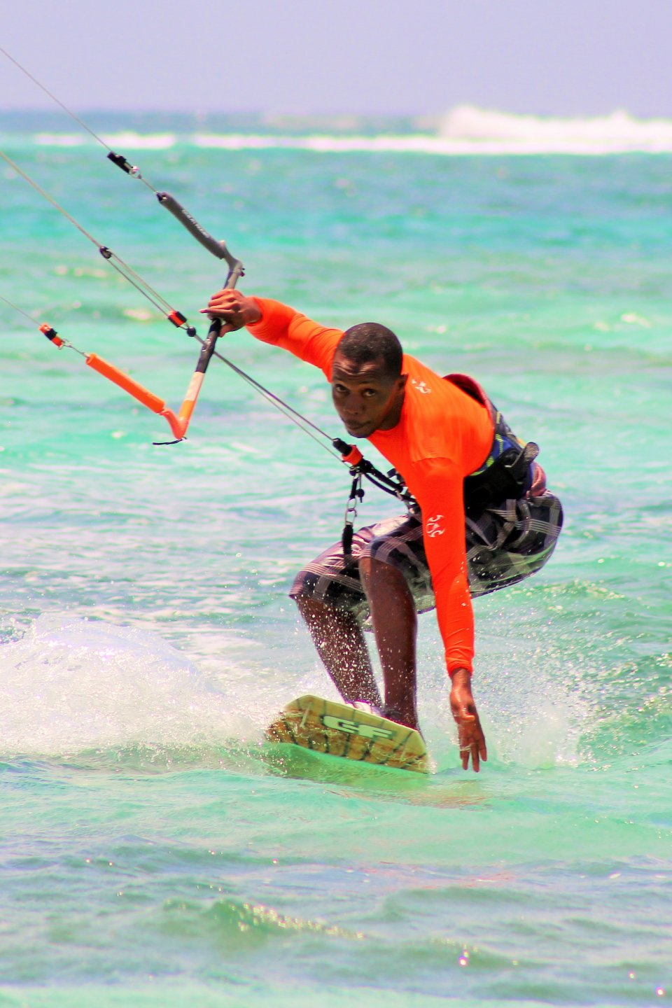 Kite Surfing with Sand and Sea Water Sports