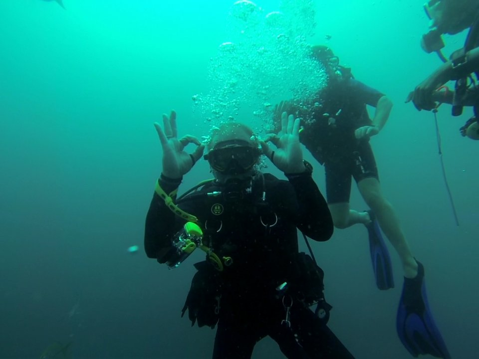 Diving with International Diving School