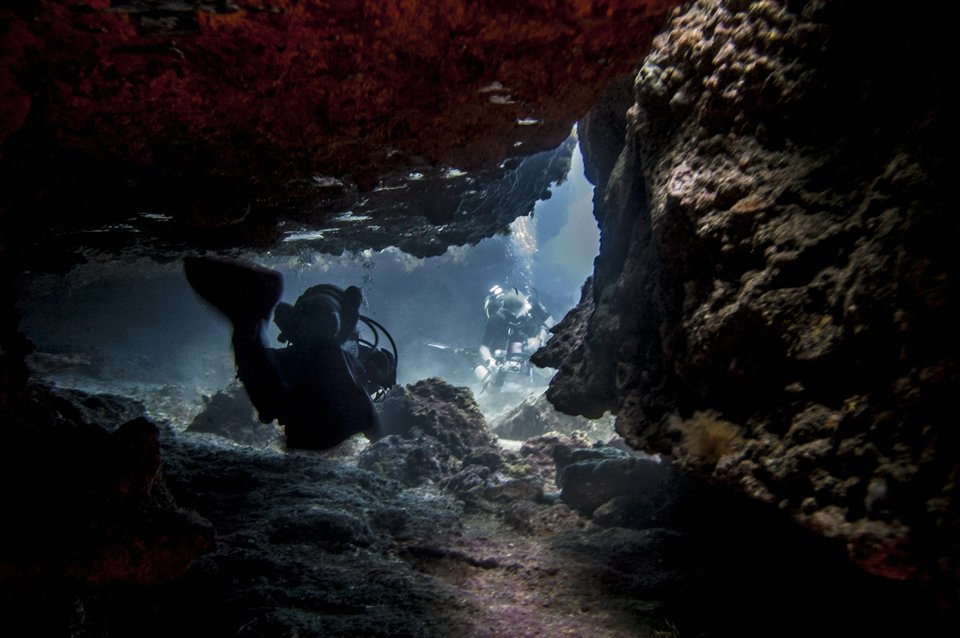 Cavern diving South of Tenerife