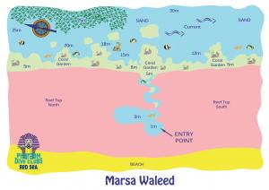 Marsa Waleed Dive Map
