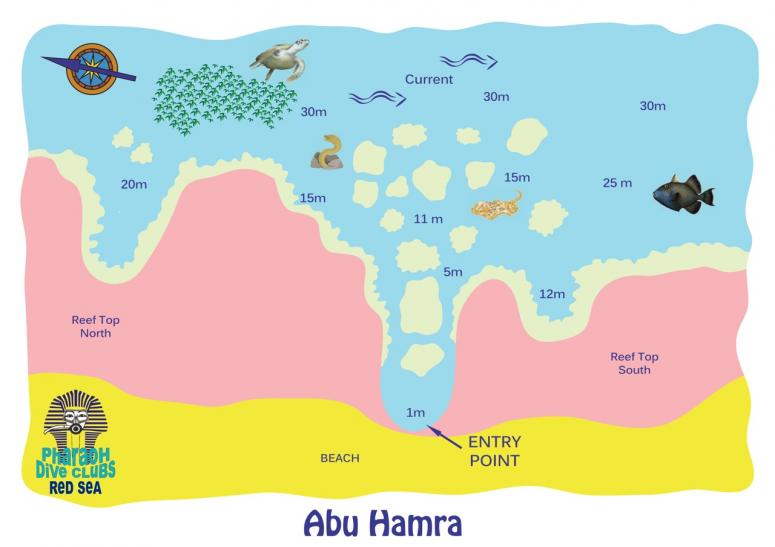 Abu Hamra dive map