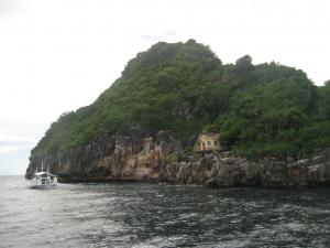 Arriving at Gato Island