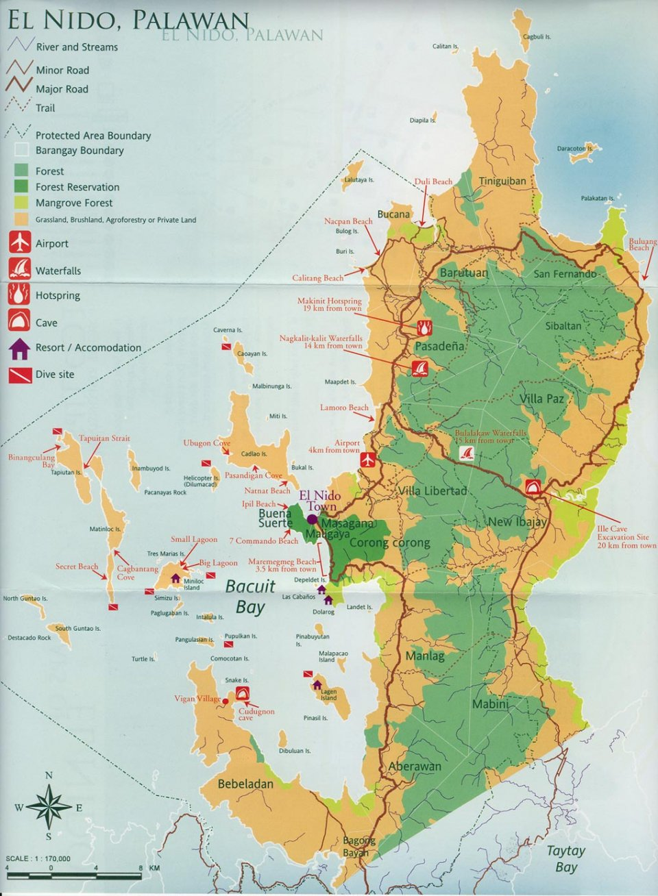 Dive Map El Nido