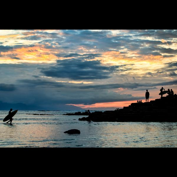 Surfing at Sunset - Senggigi