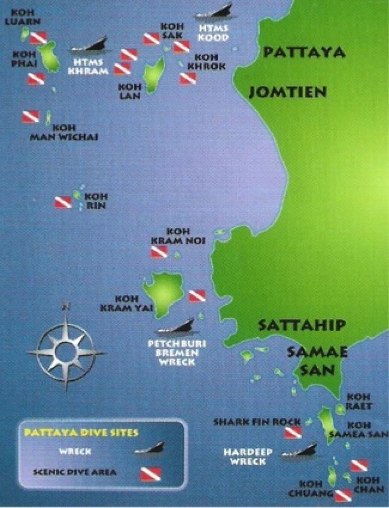 Pattaya Dive Sites