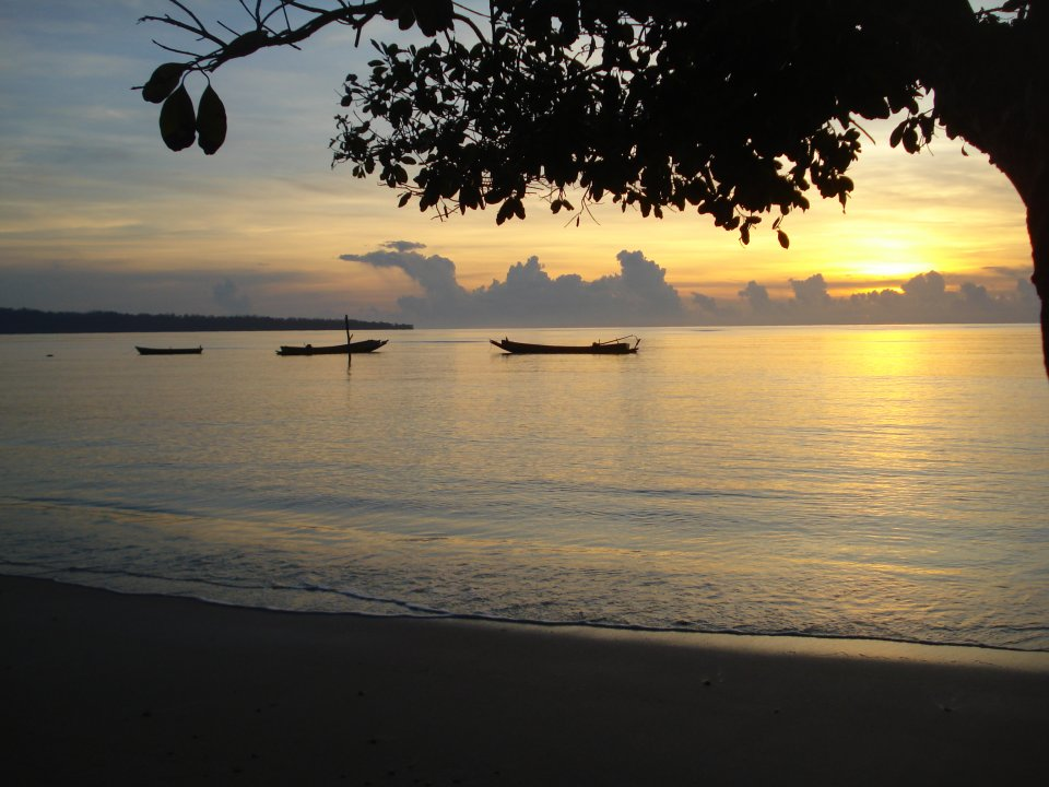 A sunrise in the Andaman islands